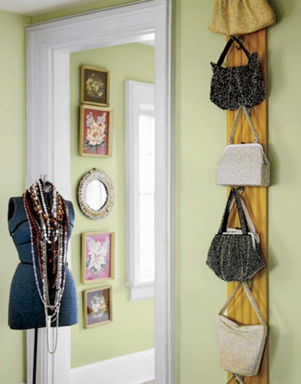 So schön sehen die Taschen auf dem Wand