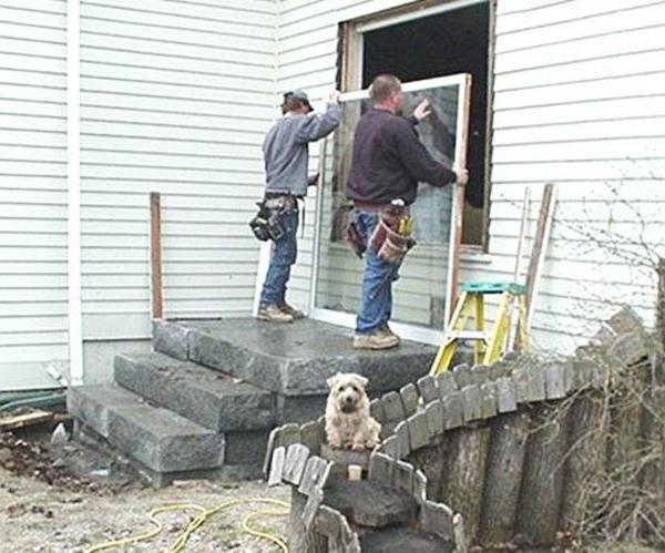 Terrasse Renovierung gartendeko vorbereitung