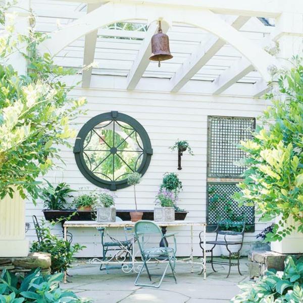 Terrasse Renovierung gartendeko weisser raum