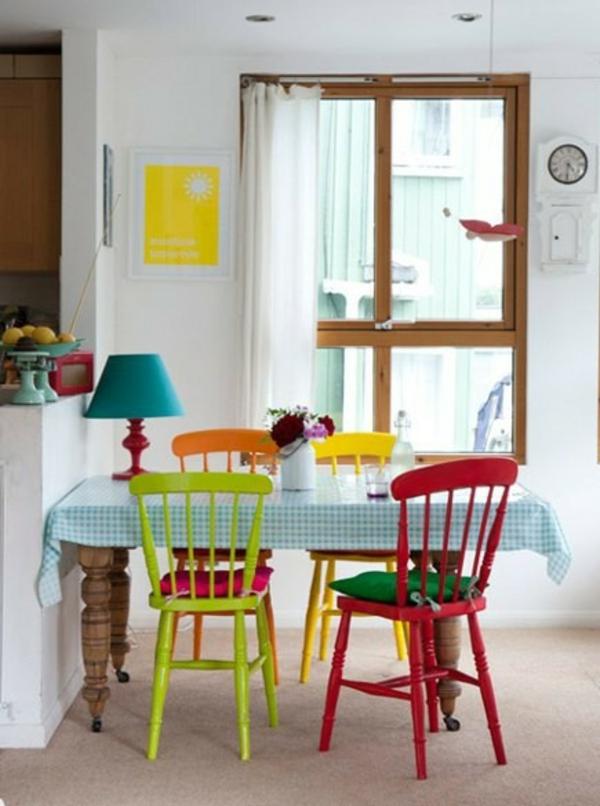 Esszimmerstühle bunt  37 Ideen verschiedene Stühle im Esszimmer zu verwenden