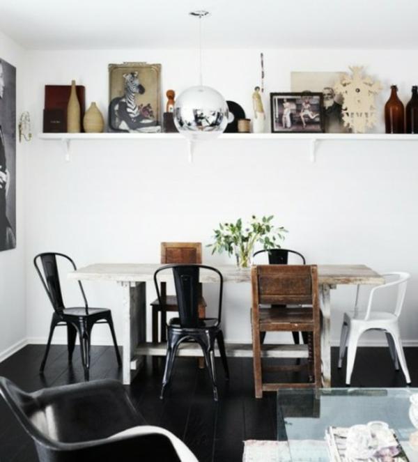 Verschiedene Speisestühle Deko Schwarz Braun Weiss 37 Ideen Verschiedene  Stühle Im Esszimmer Zu Verwenden ...