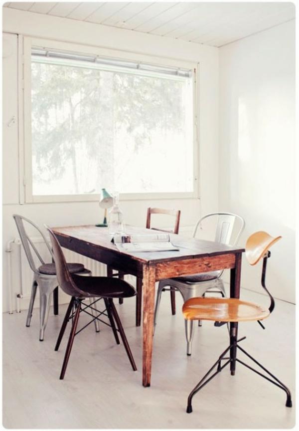 Verschiedene Mit Speisestühle Deko Weiss Holz 37 Ideen Verschiedene Stühle  Im Esszimmer Zu Verwenden ...
