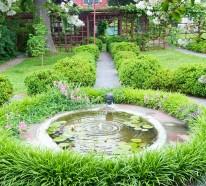 Patio-Tour: Klassischer Hof mit dem Teich und Brunnen