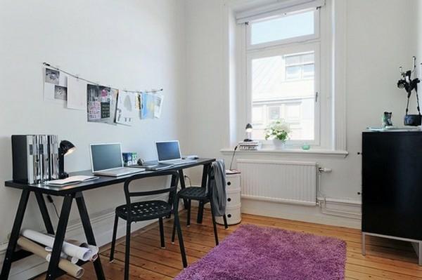 apartaments idee schreibtisch schwarz farbe design fenster