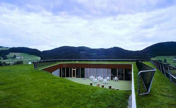 Exterieur ideen 20 stilvolle designer geb ude mit gr nen for Architektur haus