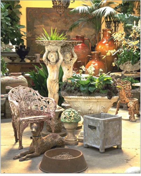 aristokratisch klassisch luxus wintergarten idee entspannend