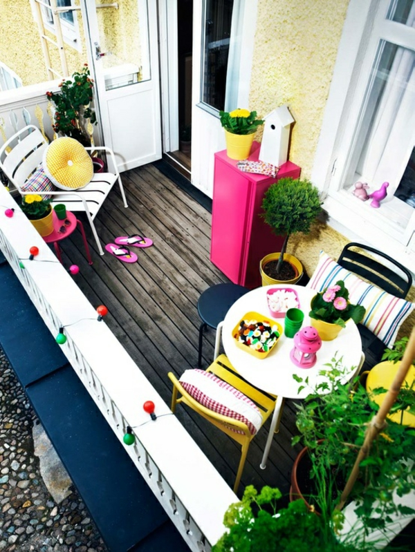 balkon holz boden farben bunt reich ideen design angenehm