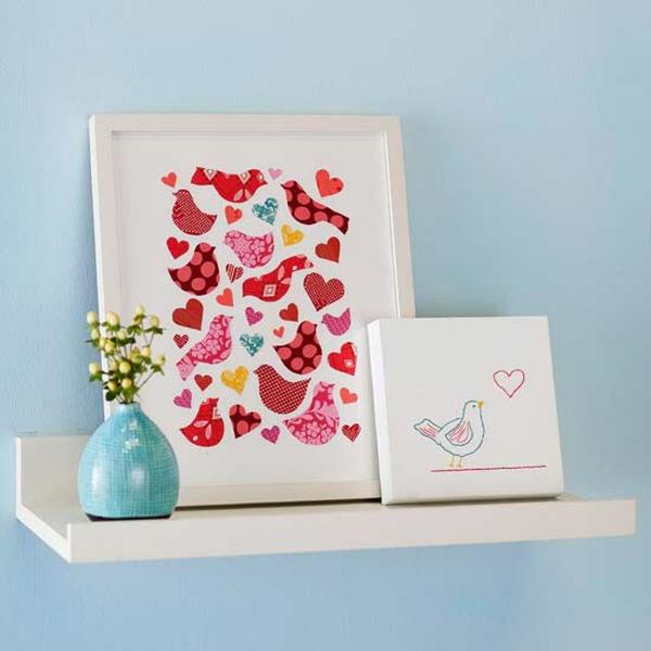 valentinstag collage dekoration selber