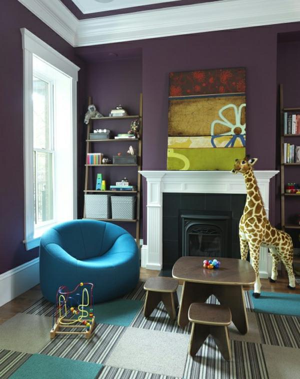 blau violet innendesign ideen