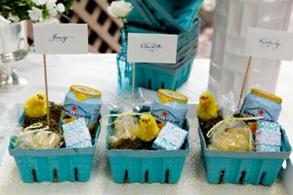 blaue deko ideen für ostern ostereier dekoration muster