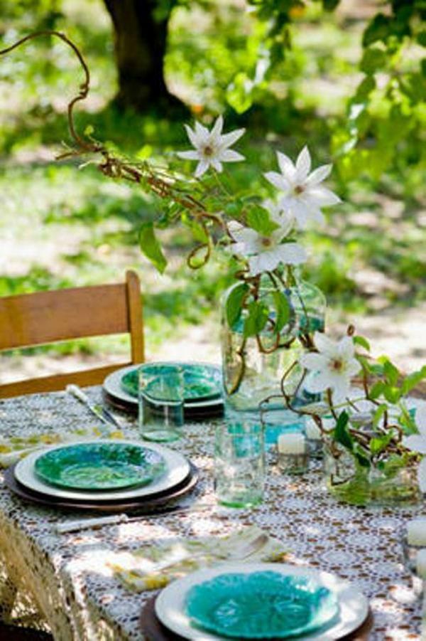 blaue deko ideen für ostern ostereier dekoration outdoor
