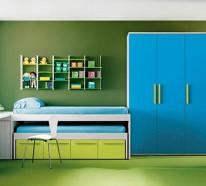 Blaue und gr ne innendesings originelle farbenreiche vorschl ge - Grune fensterrahmen ...