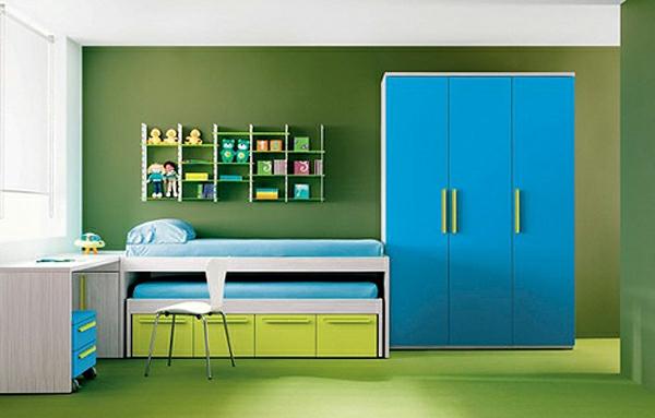 blaue und gr ne innendesings originelle farbenreiche. Black Bedroom Furniture Sets. Home Design Ideas