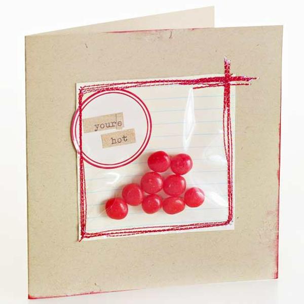 valentinstag bonbons karte