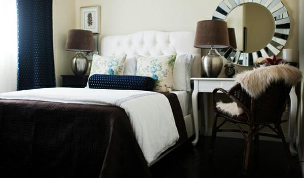 braune motive idee design schlafzimmer interieur