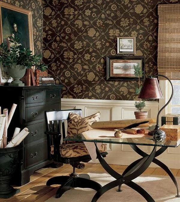 braunes interieur design idee klassisch motive