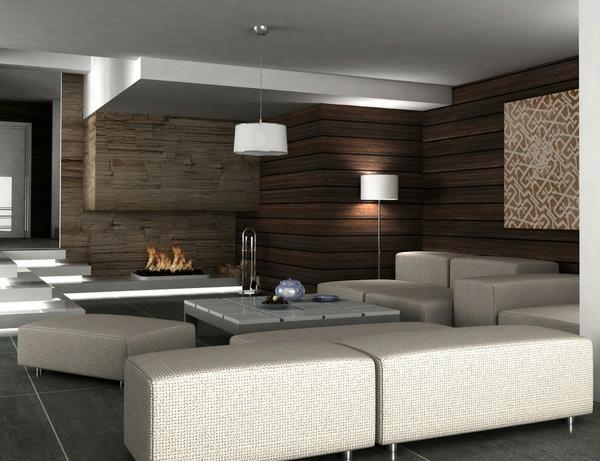Fliesen Braun Wohnzimmer wohnzimmer kche in einem weie boden fliesen beige braun Design Wohnzimmer Farbe Grau Braun Wohnzimmer Ideen Braun Wohnzimmer Streichen Schlichte Farbe Ochra
