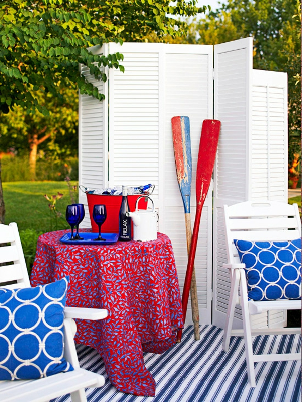 outdoor deko ideen garten farben