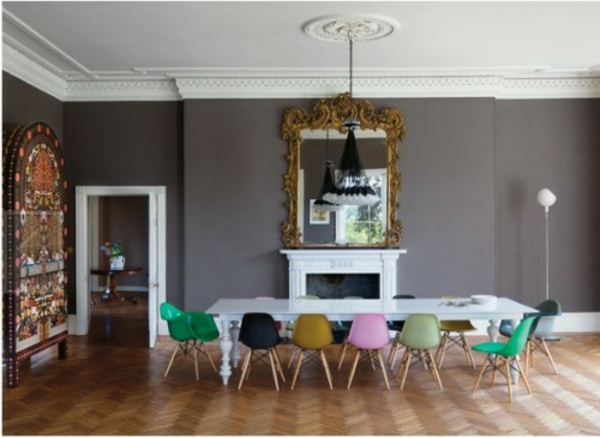 bunte stühle akrylglas idee design dekoration elektisch