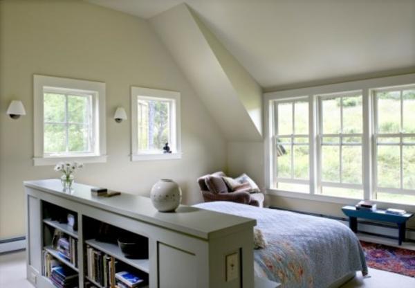 Vorschläge für den Platz hinter dem Bett dachzimmer