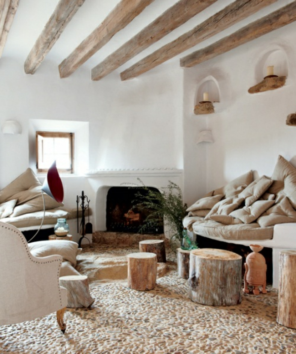 Deko Ideen Aus Baumstumpf Stuehle Seitentische Dekoration