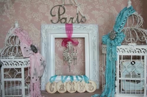 deko pariser stil inspirieren babyzimmer kaefige
