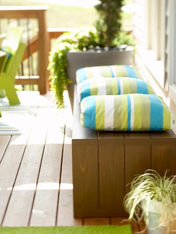 Terrasse-Möbeln Behaglichen Außenwohnraum draussen bank