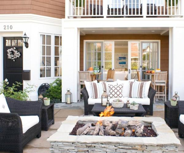 Terrasse-Möbeln Behaglichen Außenwohnraum kamine