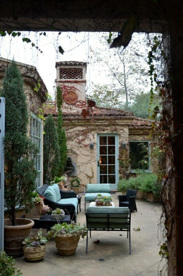 efeu klassisch sofa stuhl kissen patio design outdoor ideen