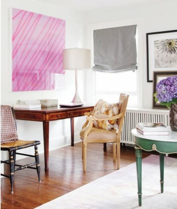 deko ideen eklektisch  farben gardinen stoffen