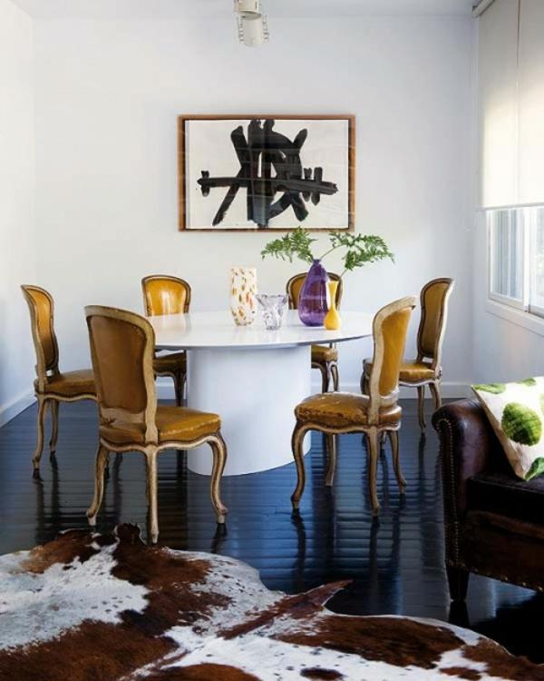 eklektische dekoration ideen farben minimalistisch klasssisch