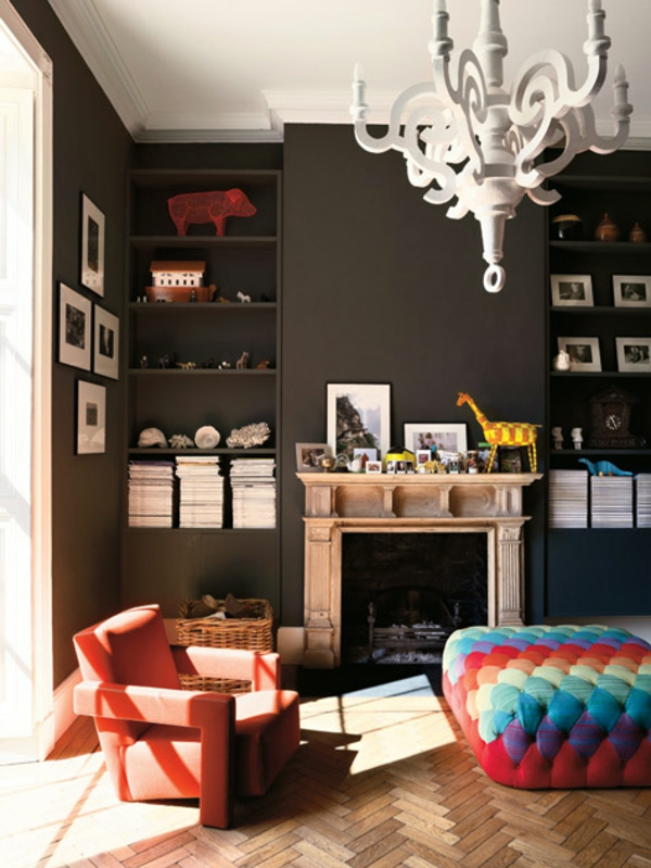 eklektische interieur ideen farben stuhl sessel
