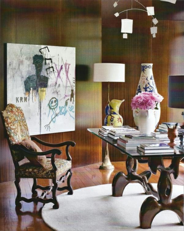 eklektischer stil dekoration design interieur mischung