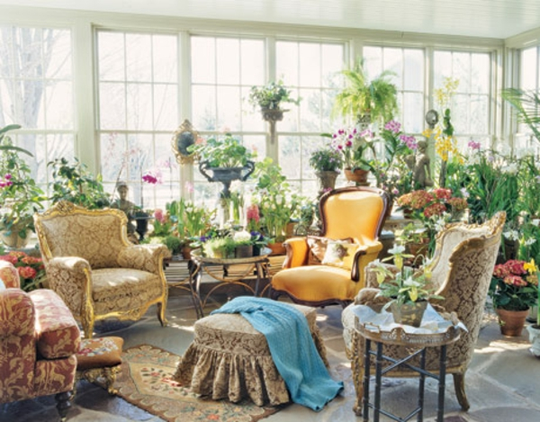 erholen klassische luxus atmosphäre wintergarten design idee