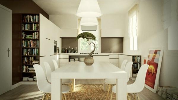 essbereich küchen insel design idee