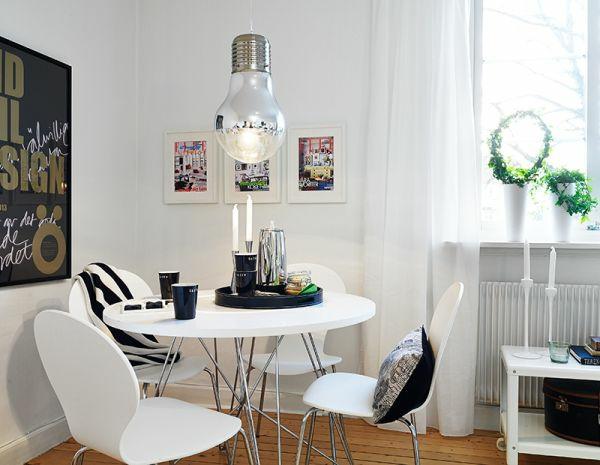esszimmer stilvoll modern weisse design innen ausstattung