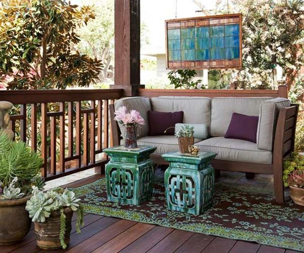 rückzug exotisch outdoor ideen terrasse