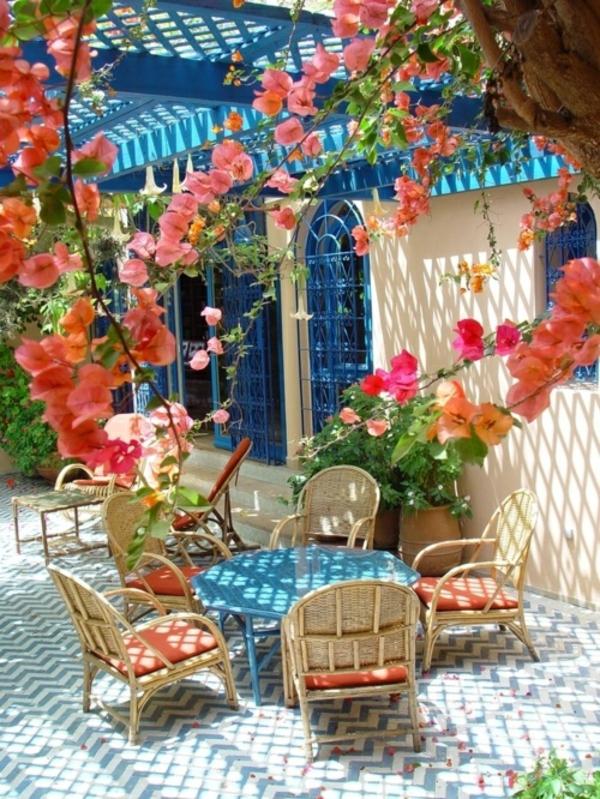 exotisch stroh stuhl tisch outdoor patio design ideen