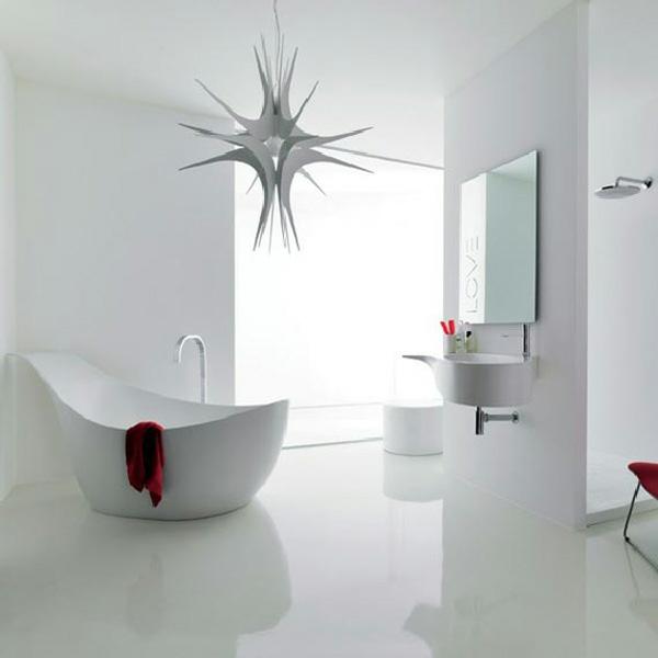extravagant pompös badewanne weisse entspannende atmosphäre