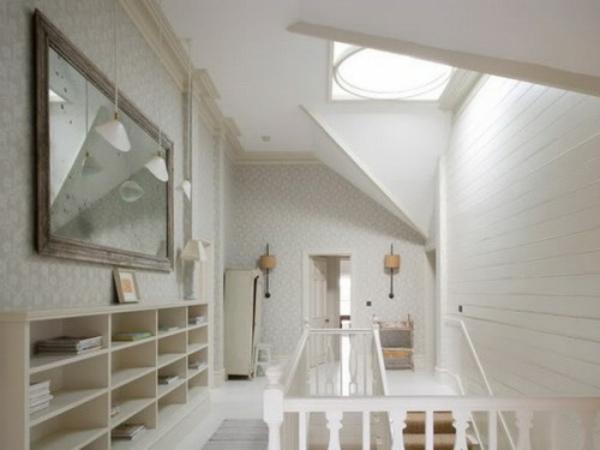 spiegel idee installation hausflur gang dachfenster