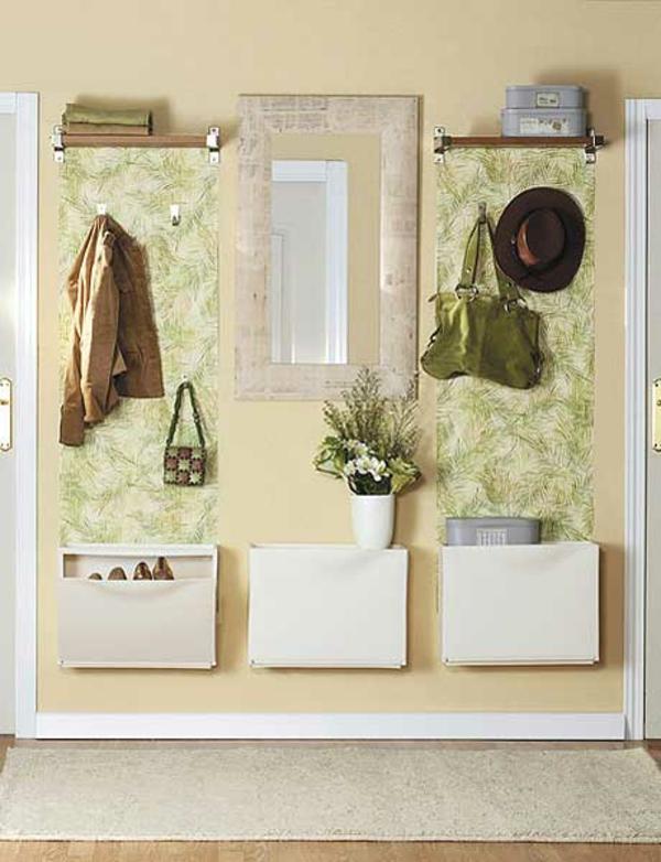 extravagant spiegel idee installation hausflur gang jacke