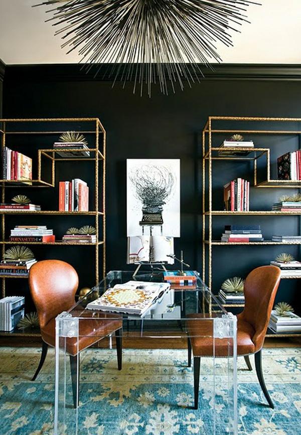 Schwarze Innenwände in Ihrer Wohnung - 30 originelle Vorschläge