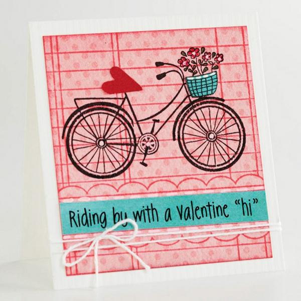 karte fahrrad idee valentinstag