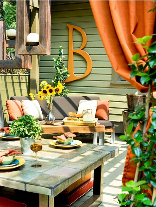 outdoor ideen deko garten küche aussen