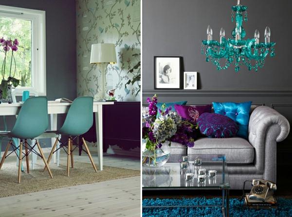 Wohnideen Violett interessante ideen für interieur in blau und violett