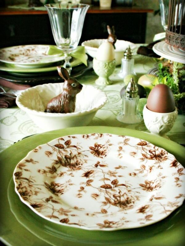 festlich feierlich deko idee tisch ostern