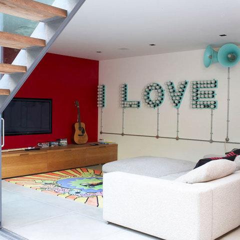 festliche deko idee wand dekoration liebe valentinstag