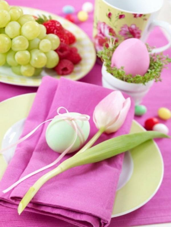 frische früchte ostereier bunt rosa fareb motive ostern easter