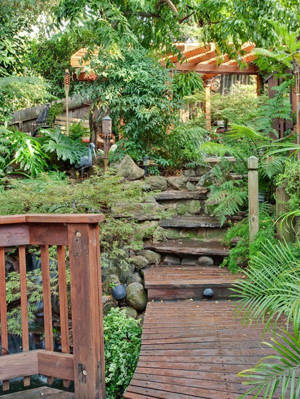 tropisches Garten Designeridee