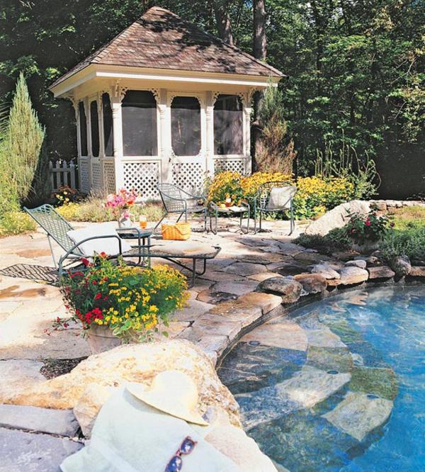 Terrasse-Möbeln Behaglichen Außenwohnraum pavillon